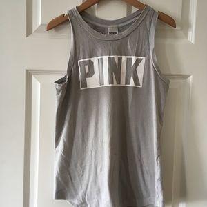 Victoria's Secret PINK Tank Gray Muscle Tee
